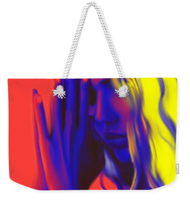 Pray Weekender Tote Bag featuring the painting Prayers For The Forgotten by Jack Bunds