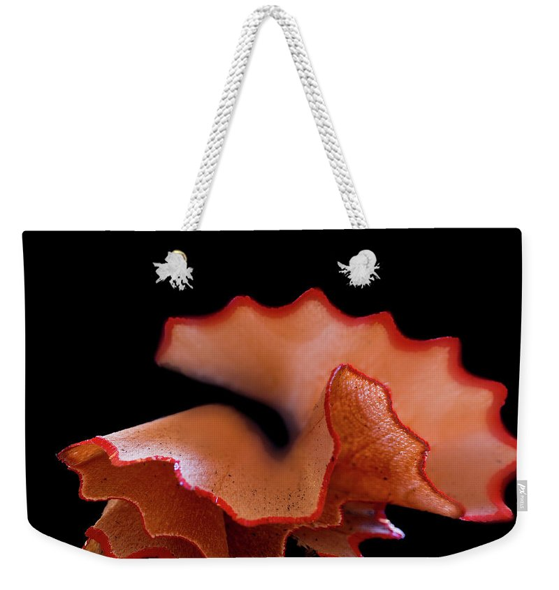 Black Background Weekender Tote Bag featuring the photograph Prepared by Mse