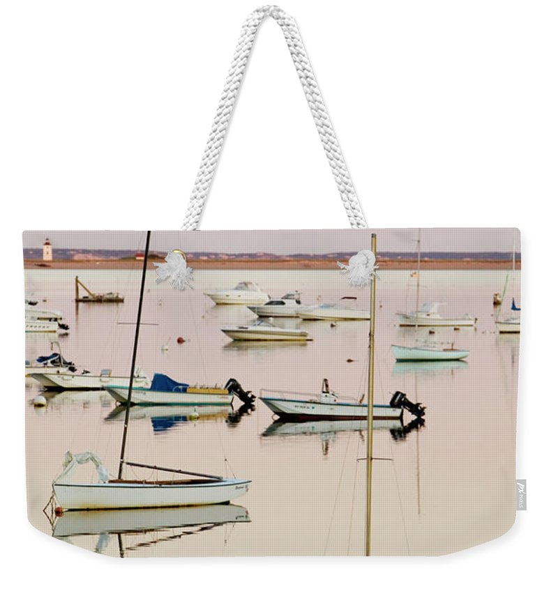 Sailboat Weekender Tote Bag featuring the photograph Provincetown Harbor by Walter Bibikow