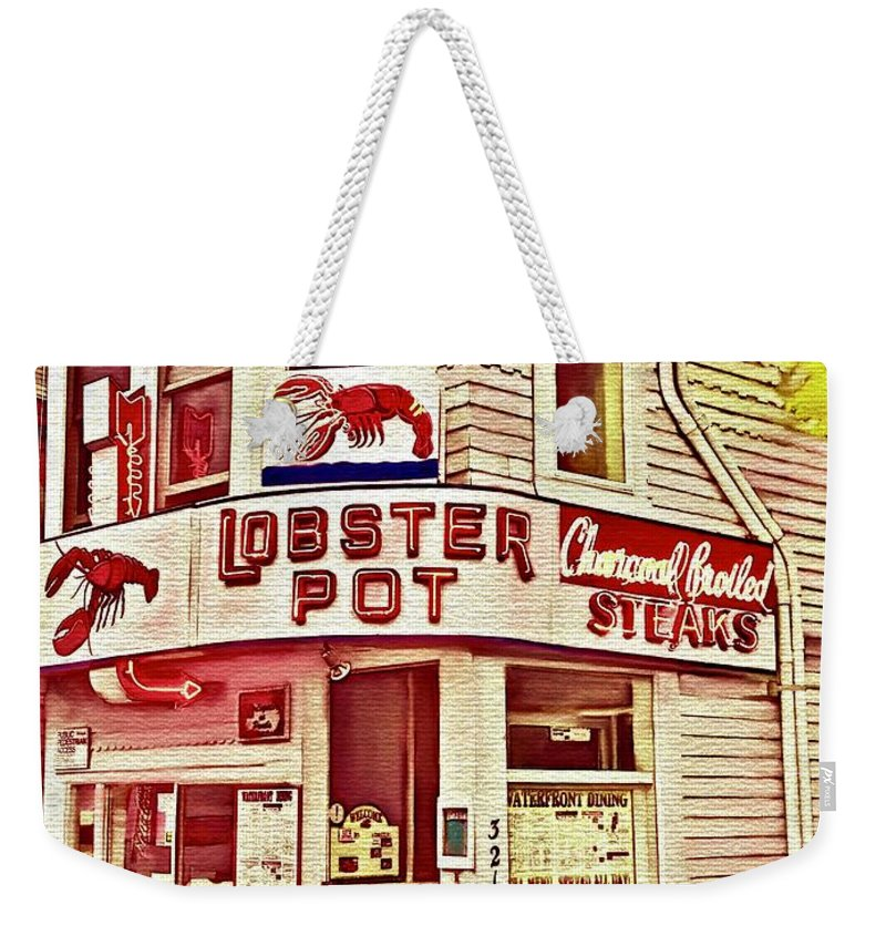 Provincetown Tradition Lobster Pot Weekender Tote Bag featuring the digital art Provincetown Tradition Lobster Pot by Laurie's Intuitive
