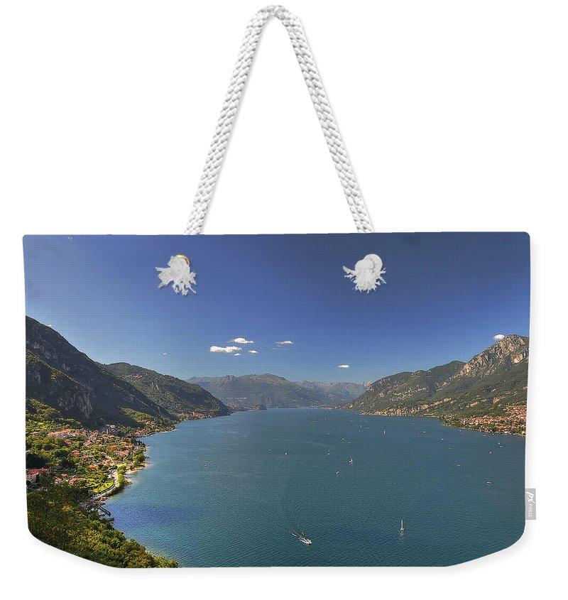 Scenics Weekender Tote Bag featuring the photograph Quel Ramo Del Lago Di Como by Filippo Maria Bianchi