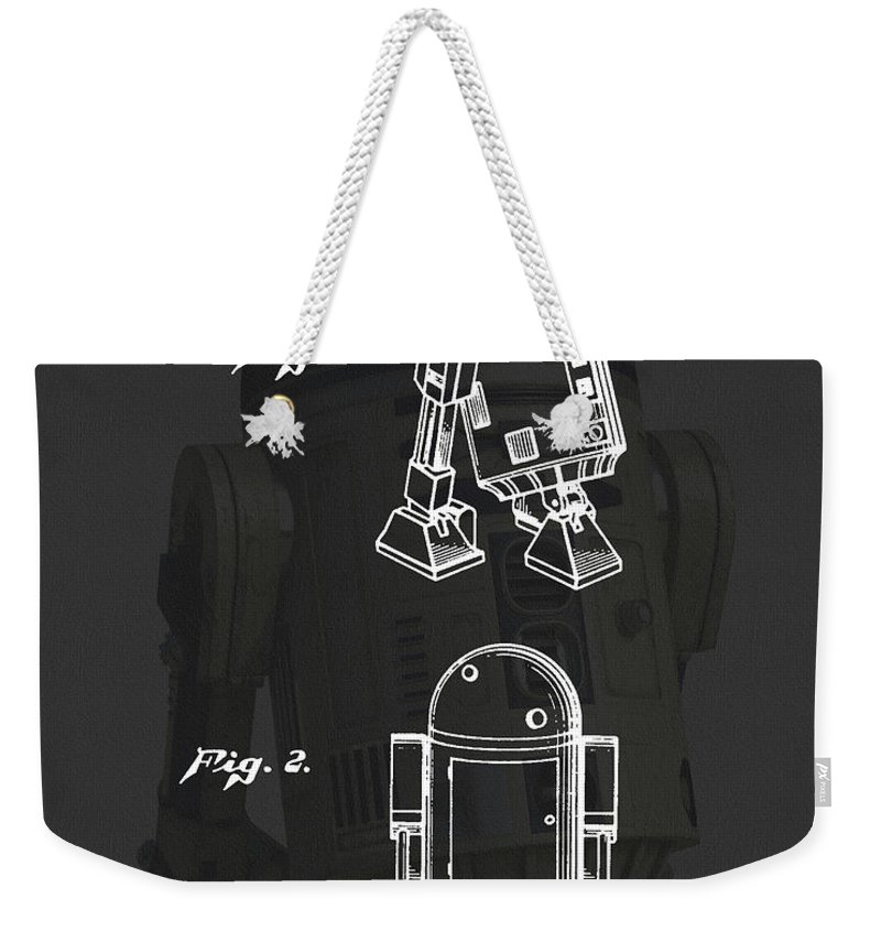 R2-d2 Weekender Tote Bag featuring the drawing R2d2 Patent by Dan Sproul