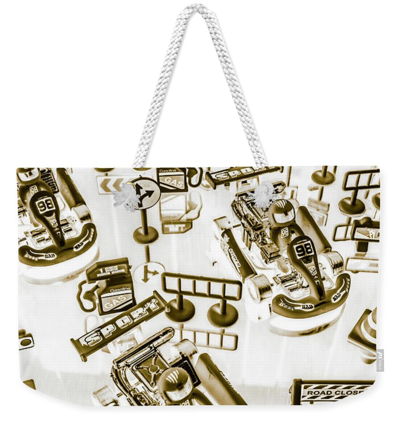 Kart Weekender Tote Bag featuring the photograph Racing Karts by Jorgo Photography - Wall Art Gallery