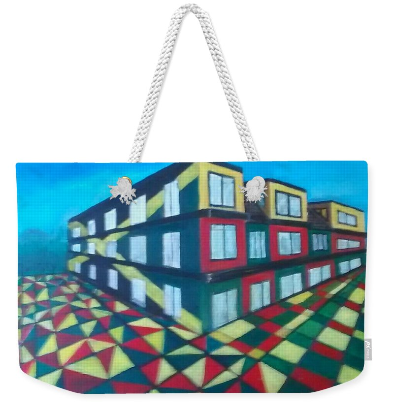 Rasta Art Weekender Tote Bag featuring the painting Rasta Academy by Andrew Johnson