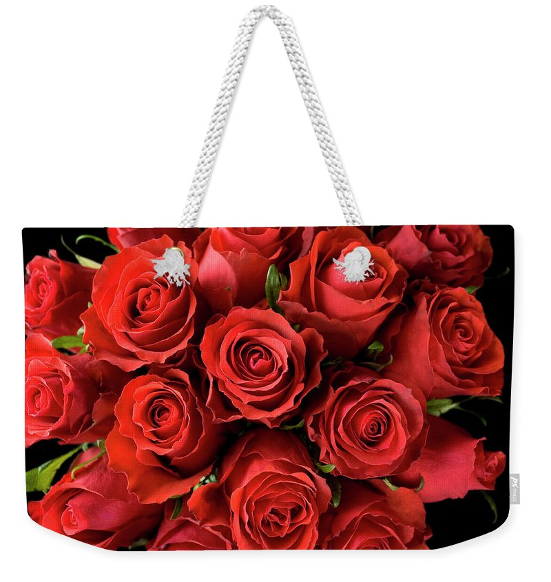 Event Weekender Tote Bag featuring the photograph Red Roses by Malerapaso