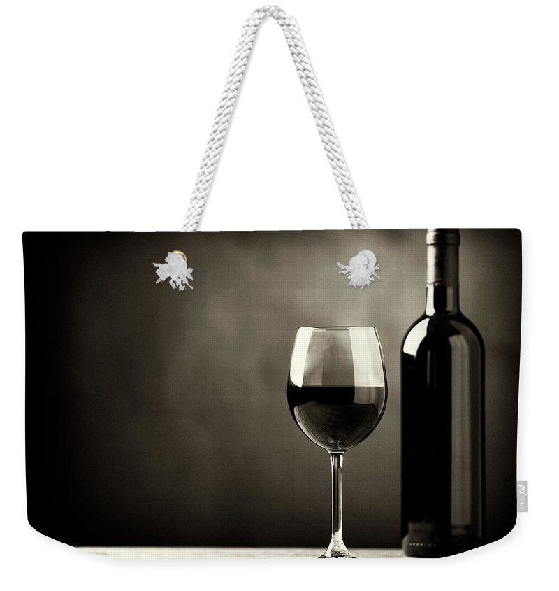 Alcohol Weekender Tote Bag featuring the photograph Red Wine by Kaisersosa67