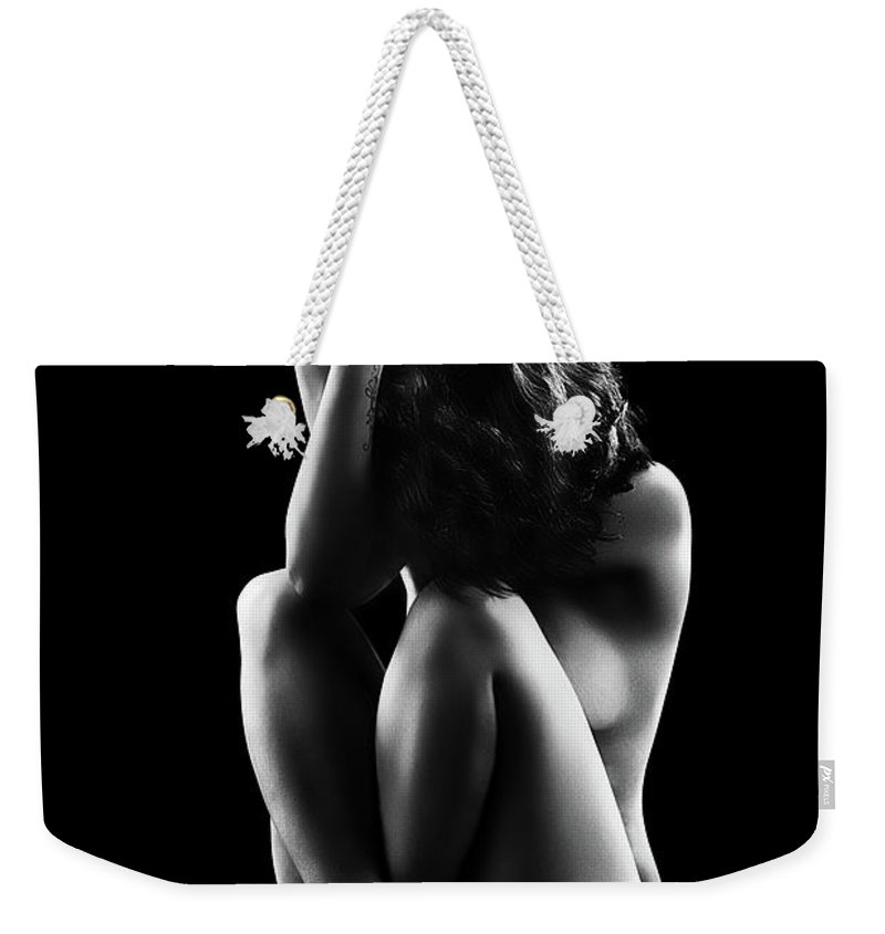 Woman Weekender Tote Bag featuring the photograph Reflections Of D'nell 5 by Johan Swanepoel