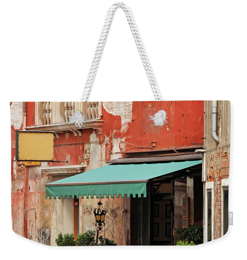 Empty Weekender Tote Bag featuring the photograph Restaurant In Venice by Mammuth