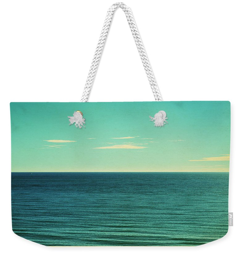 Scenics Weekender Tote Bag featuring the photograph Retro Seascape Postcard by Farukulay