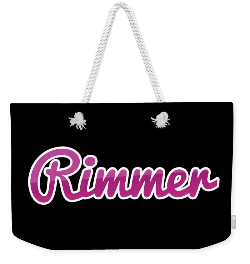 Rimmer Weekender Tote Bag featuring the digital art Rimmer #rimmer by TintoDesigns