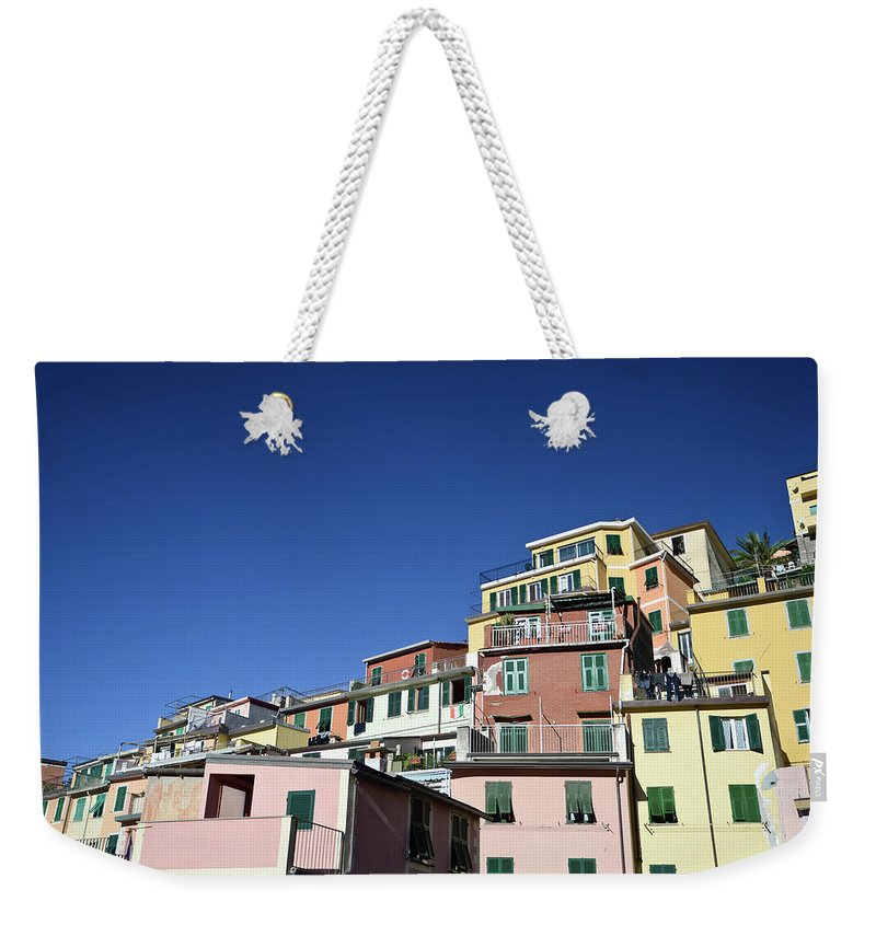 Empty Weekender Tote Bag featuring the photograph Riomaggiore by Eduleite