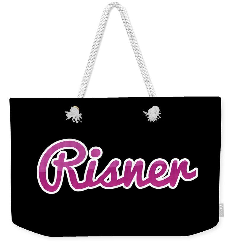 Risner Weekender Tote Bag featuring the digital art Risner #risner by TintoDesigns