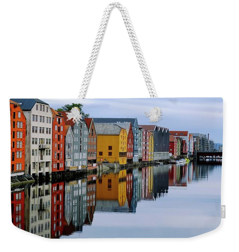 Tranquility Weekender Tote Bag featuring the photograph River Accommodation 0.2 by Nir Leshem