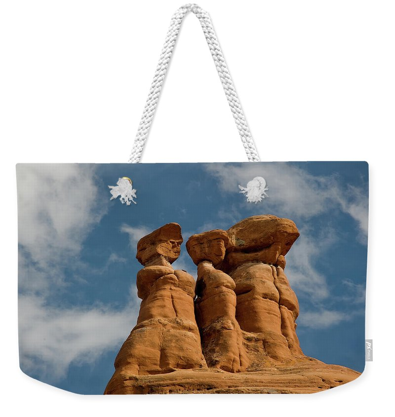 Geology Weekender Tote Bag featuring the photograph Rock Formation In Arches National Park by Amateur Photographer, Still Learning...