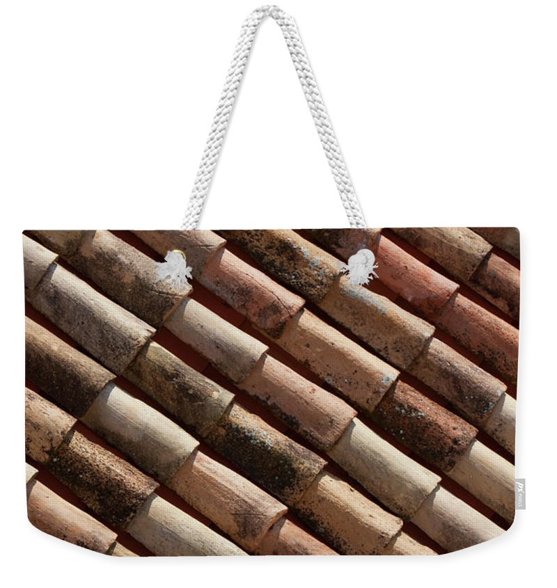 In A Row Weekender Tote Bag featuring the photograph Rooftop In Dubrovnik Old Town by Martin Child