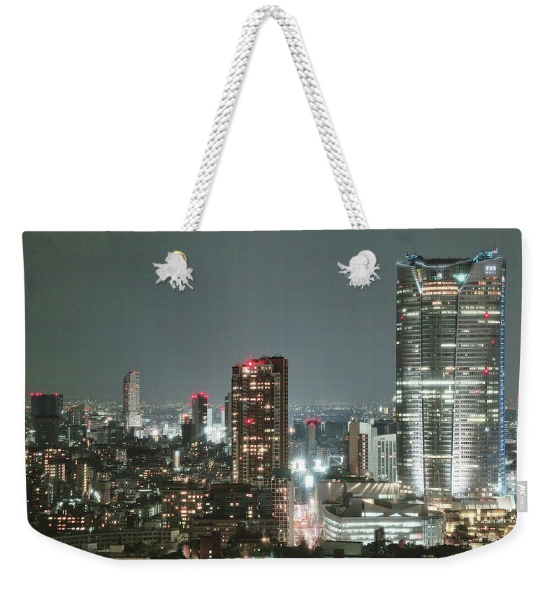Tokyo Tower Weekender Tote Bag featuring the photograph Roppongi From Tokyo Tower by Spiraldelight