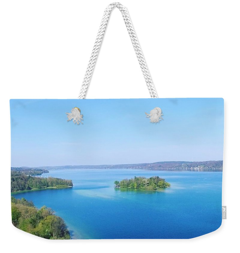 Starnberg Weekender Tote Bag featuring the photograph Roseisland by Daniel Hornof