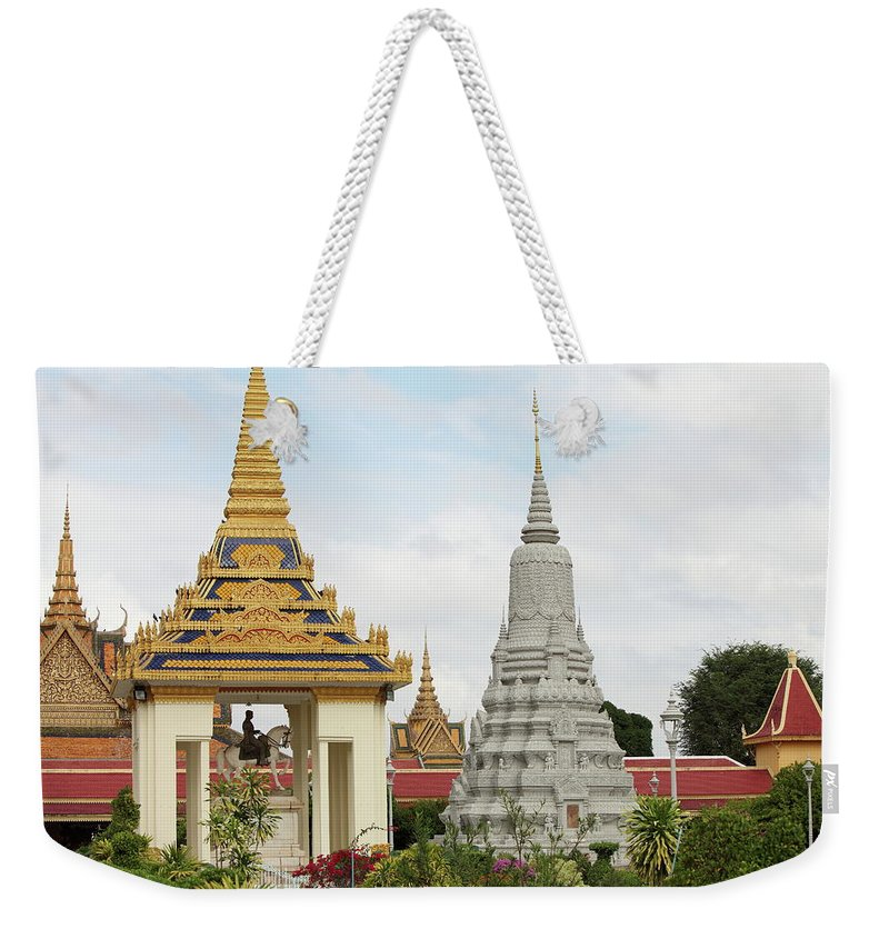 Southeast Asia Weekender Tote Bag featuring the photograph Royal Palace In Phnom Penh, Cambodia by Laurent