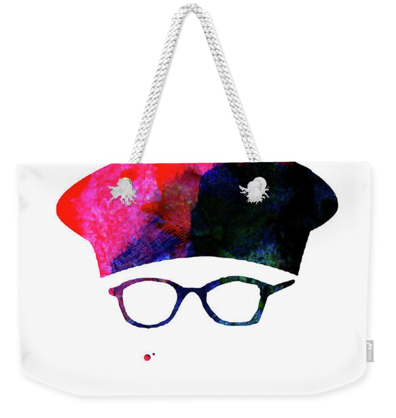 Movies Weekender Tote Bag featuring the mixed media Rushmore Watercolor by Naxart Studio