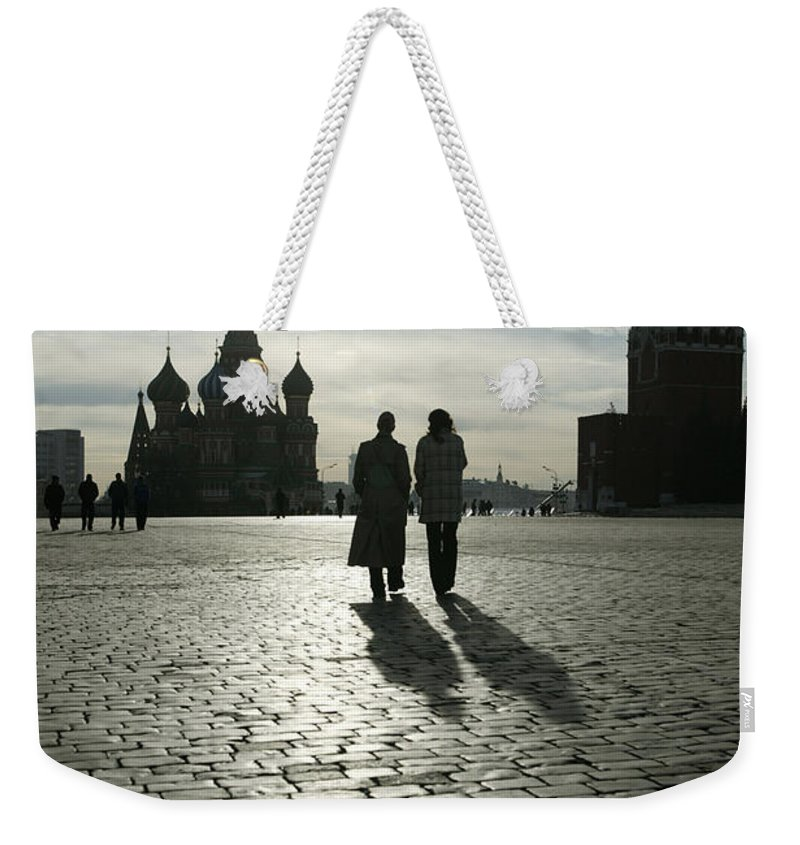 Shadow Weekender Tote Bag featuring the photograph Russia, Moscow, Red Square, Silhouette by Will & Deni Mcintyre