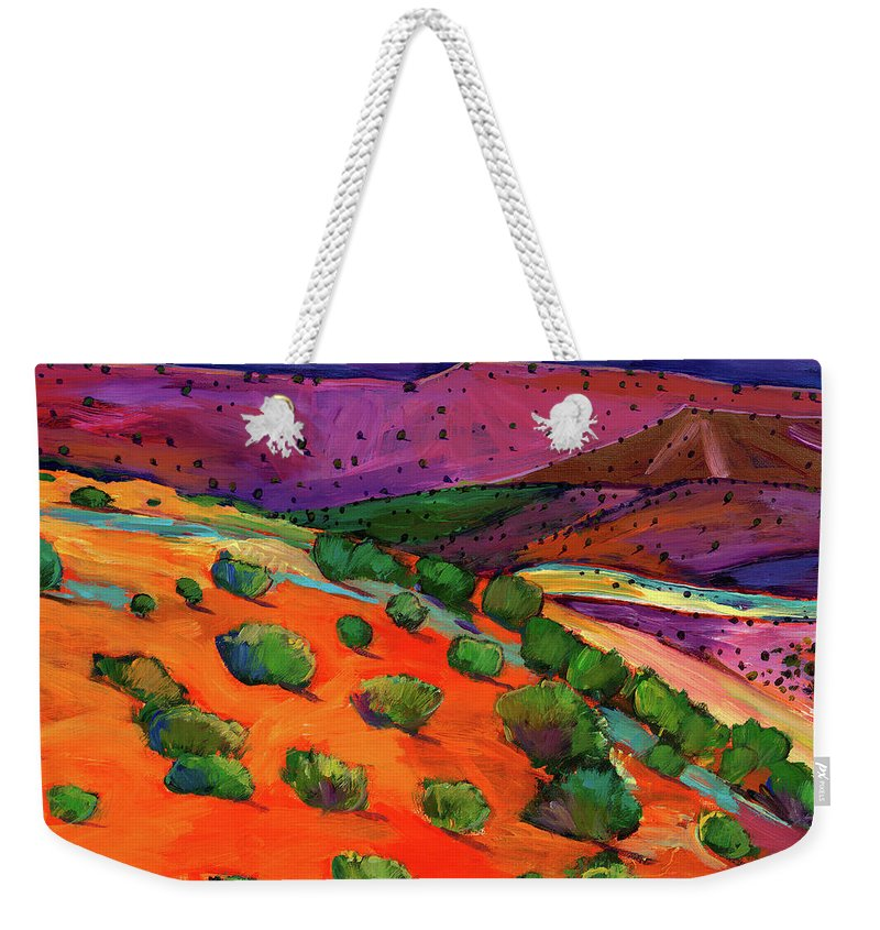 New Mexico Landscape Weekender Tote Bags