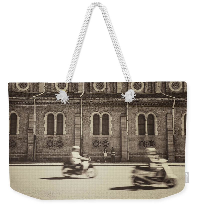 Ho Chi Minh City Weekender Tote Bag featuring the photograph Saigon Old Corner by Jethuynh