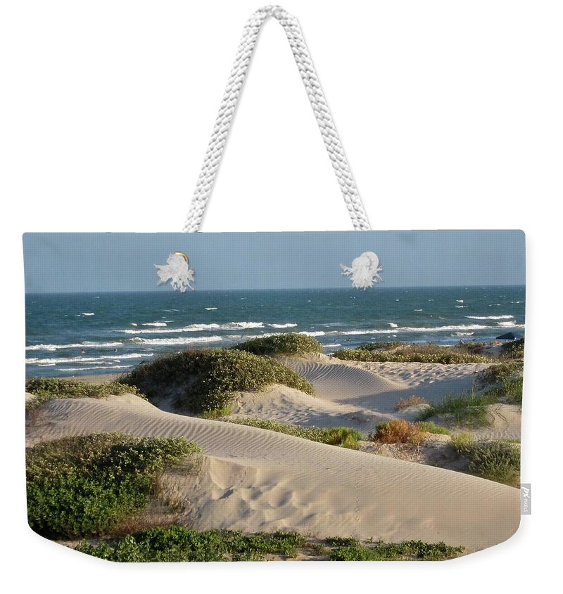 Tranquility Weekender Tote Bag featuring the photograph Sand Dunes by Joe M. O'connell