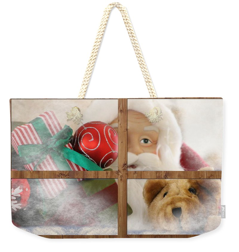 Santa Weekender Tote Bag featuring the photograph Santa on Christmas Eve by Colleen Cornelius