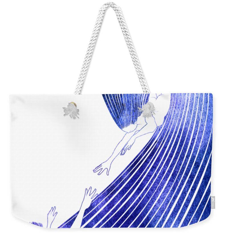 Sao Weekender Tote Bag featuring the mixed media Sao by Stevyn Llewellyn