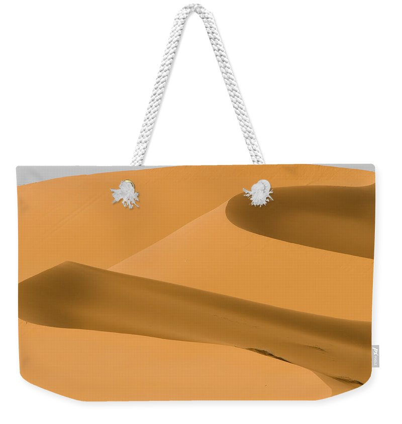 Scenics Weekender Tote Bag featuring the photograph Saudi Sand Dune by Universal Stopping Point Photography