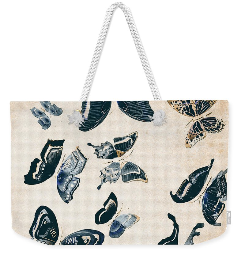 Antique Weekender Tote Bag featuring the photograph Scrapbook Butterflies by Jorgo Photography - Wall Art Gallery