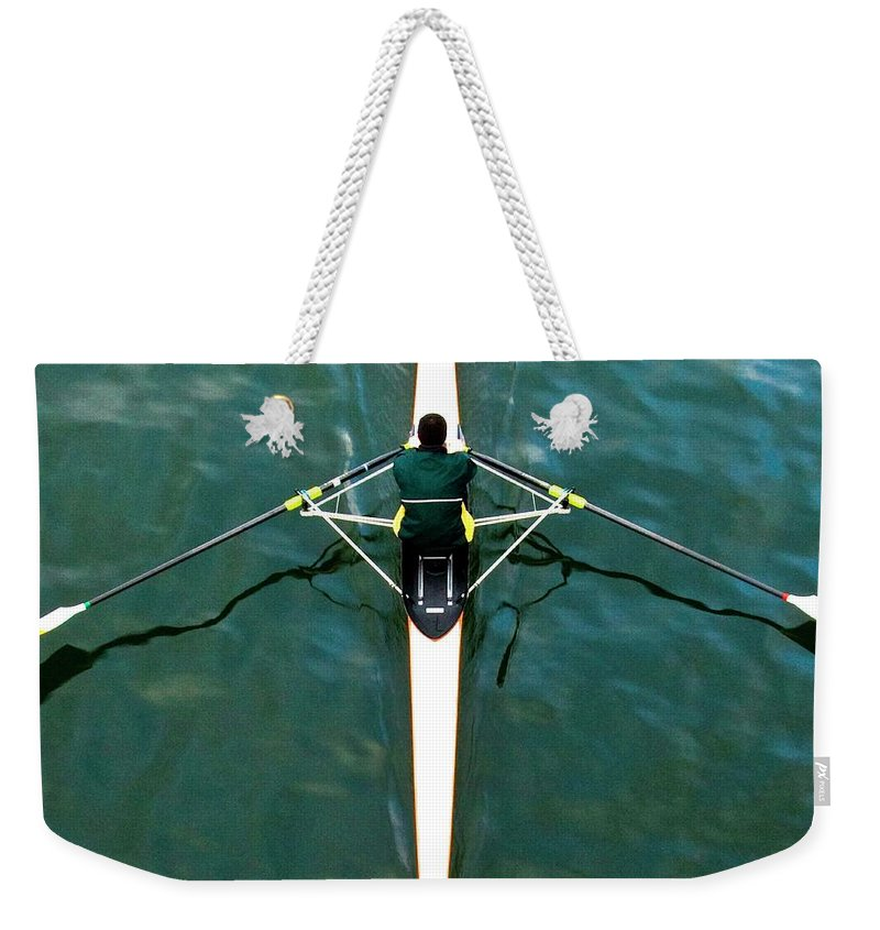 People Weekender Tote Bag featuring the photograph Scull by Gerard Hermand