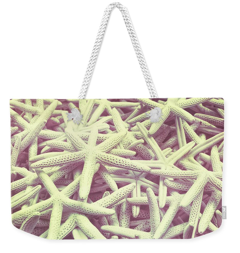 Star Weekender Tote Bag featuring the photograph Sea Color by JAMART Photography
