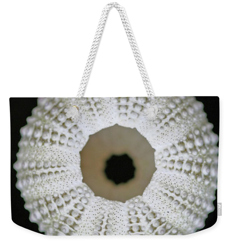 Empty Weekender Tote Bag featuring the photograph Sea Urchin Shell by Photo By Jenny Walker.