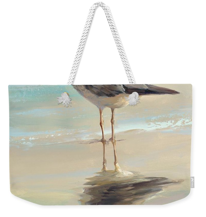 Seagull Weekender Tote Bag featuring the painting Seagull I by Laurie Snow Hein