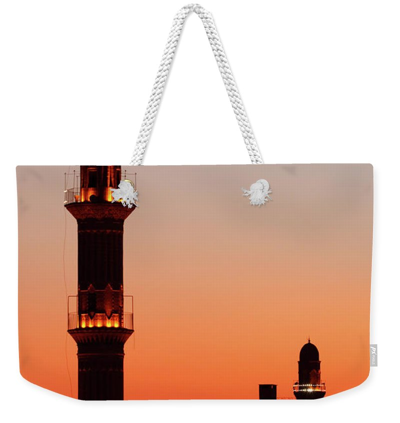 Built Structure Weekender Tote Bag featuring the photograph Sehidiye Mosque Minaret by Wu Swee Ong