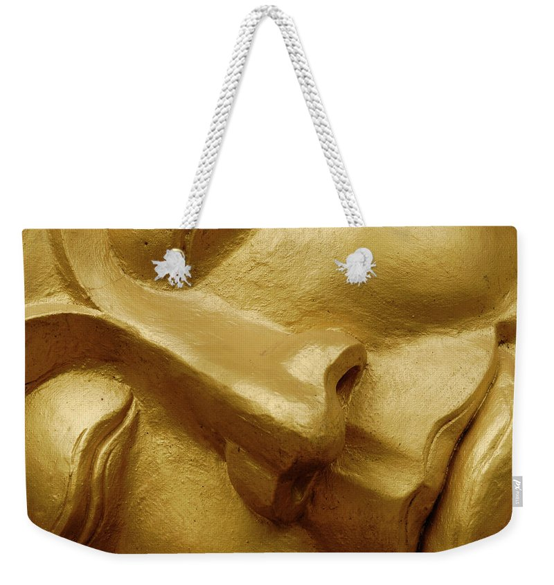 Chinese Culture Weekender Tote Bag featuring the photograph Serenity In Buddha by T-immagini