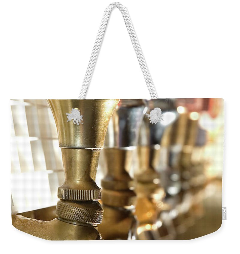 Handle Weekender Tote Bag featuring the photograph Serve It Up by Inkkstudios