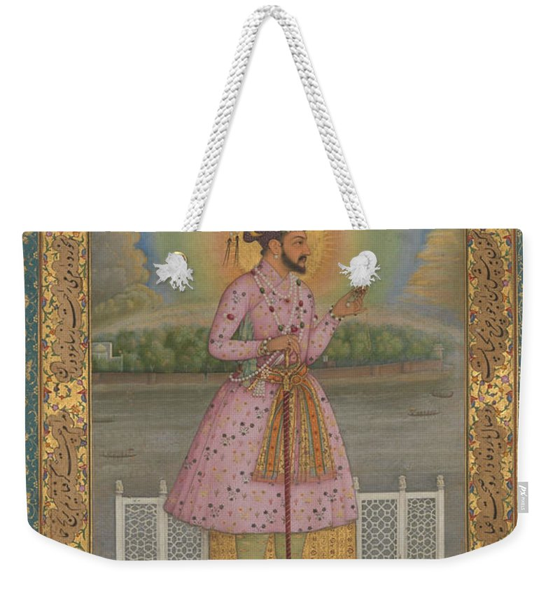 Indian Weekender Tote Bag featuring the painting Shah Jahan On A Terrace by Chitarman