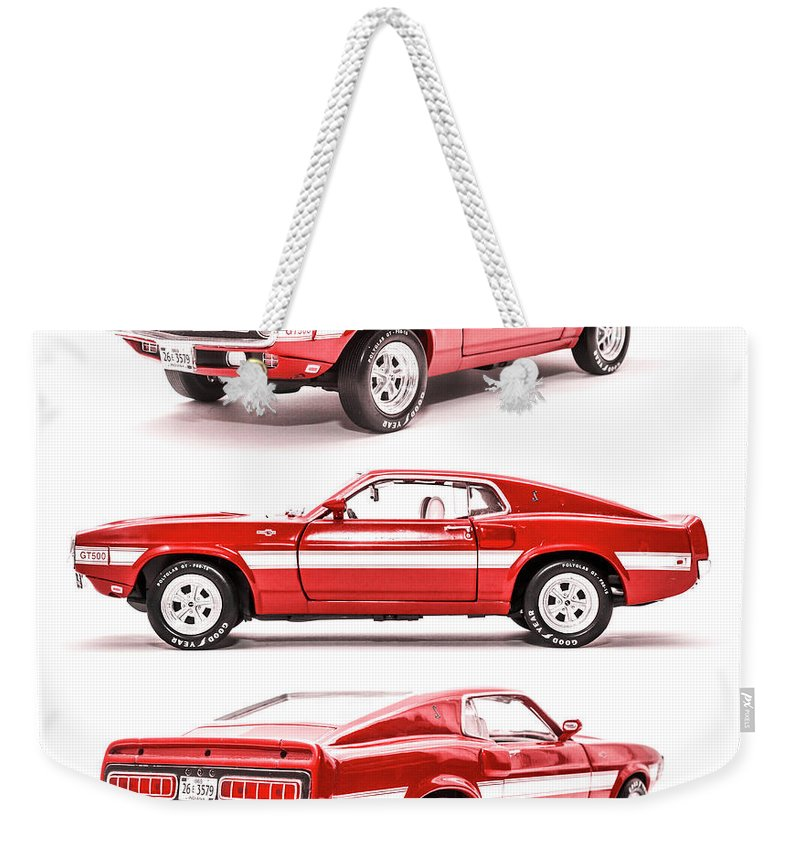 Cars Weekender Tote Bag featuring the photograph Shelby Gt500 by Jorgo Photography - Wall Art Gallery