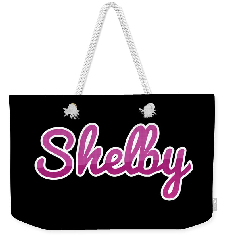 Shelby Weekender Tote Bag featuring the digital art Shelby #shelby by TintoDesigns