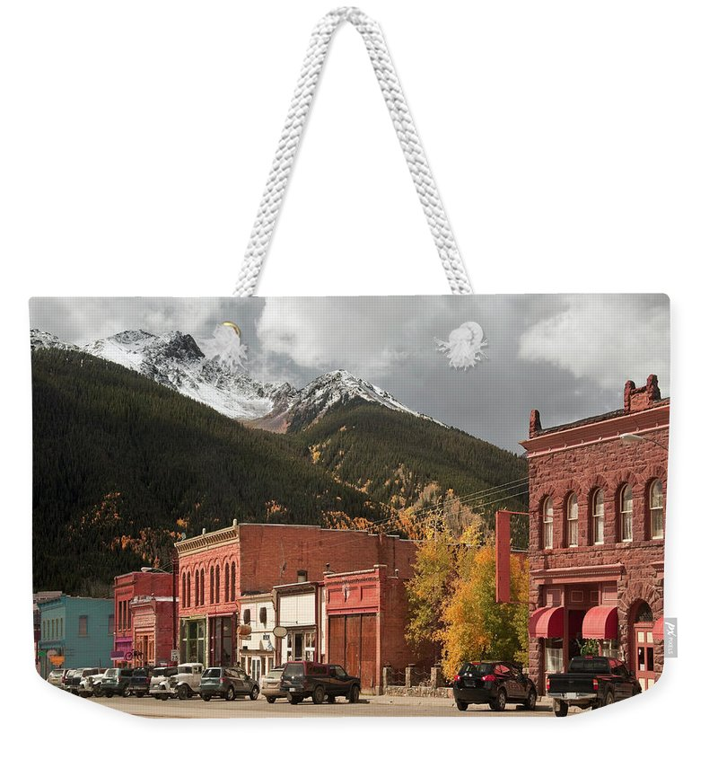 San Juan Mountains Weekender Tote Bag featuring the photograph Silverton, Colorado by Missing35mm
