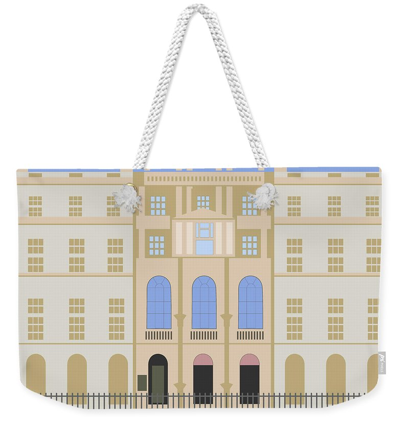 Blue Weekender Tote Bag featuring the digital art Sir John Soane's Museum by Claire Huntley
