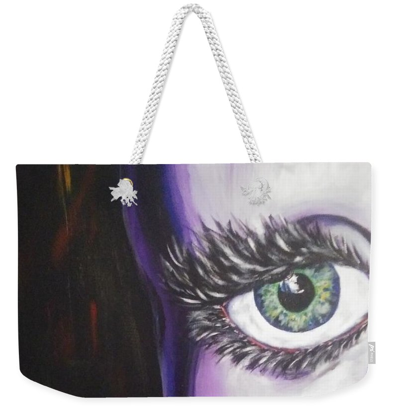 Queer Art Weekender Tote Bag featuring the painting Slip by Jonathan Peterson
