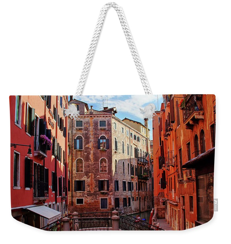 Arch Weekender Tote Bag featuring the photograph Small Canals In Venice Italy by Totororo