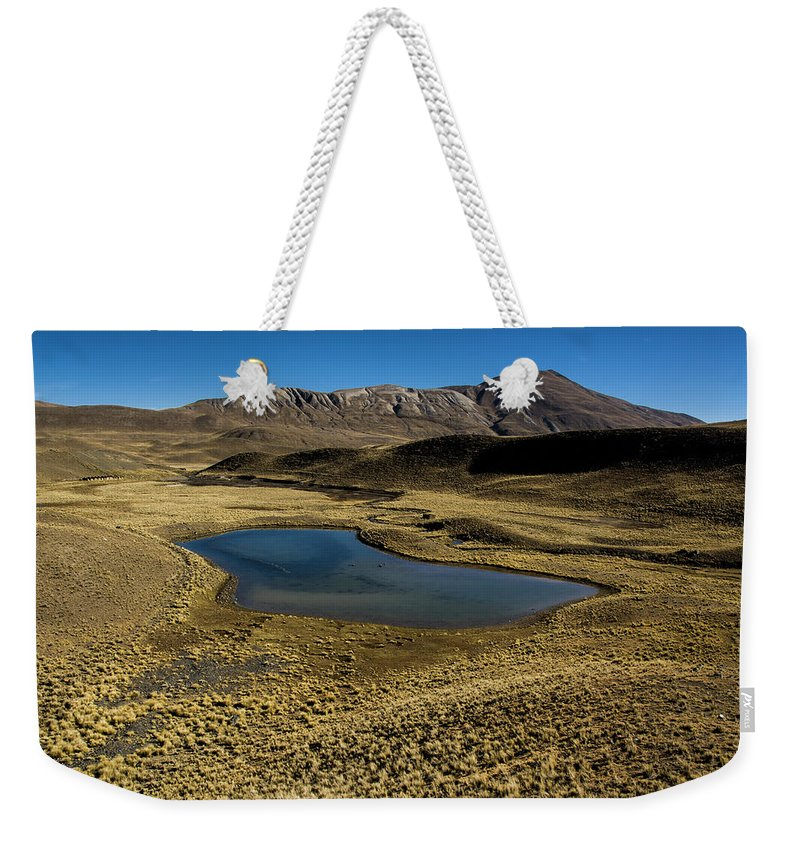 Tranquility Weekender Tote Bag featuring the photograph Small Lagoon In Condoriri National Park by © Santiago Urquijo