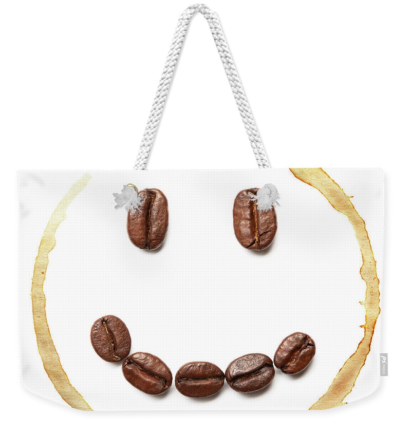 Spray Weekender Tote Bag featuring the photograph Smile Coffee Beans by T kimura