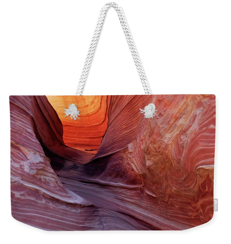 Geology Weekender Tote Bag featuring the photograph Smooth Red Stone , Vermilion Cliffs by Raimund Linke
