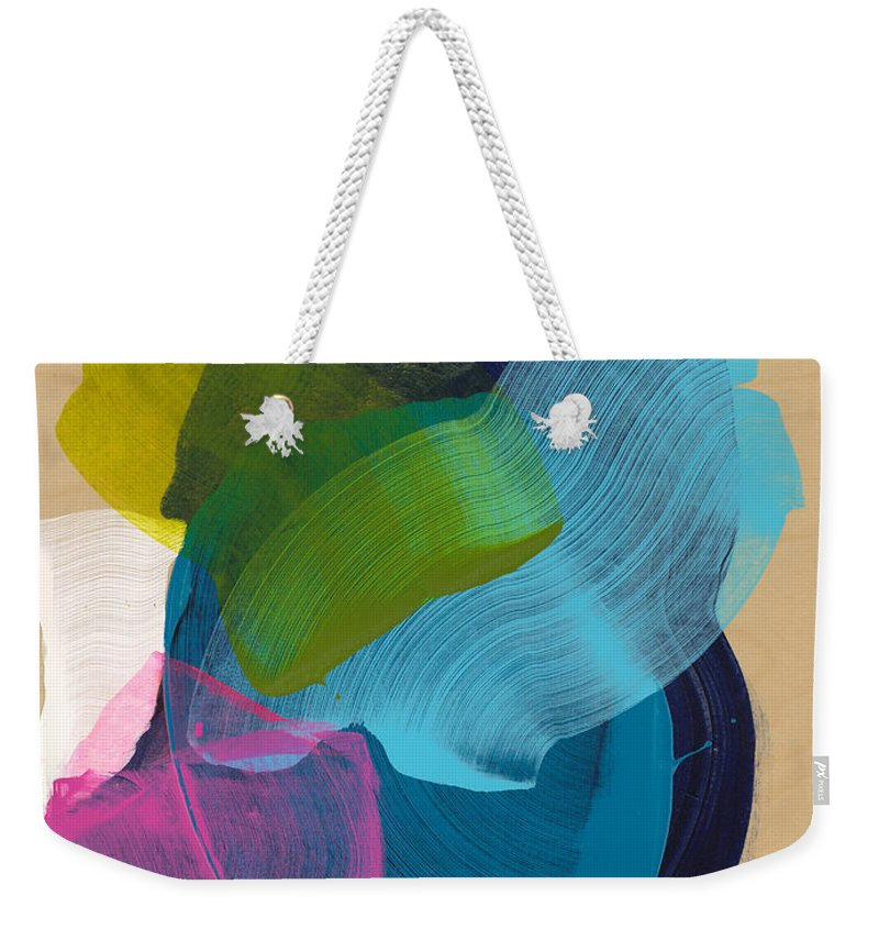 Abstract Weekender Tote Bag featuring the painting Socal 02 by Claire Desjardins