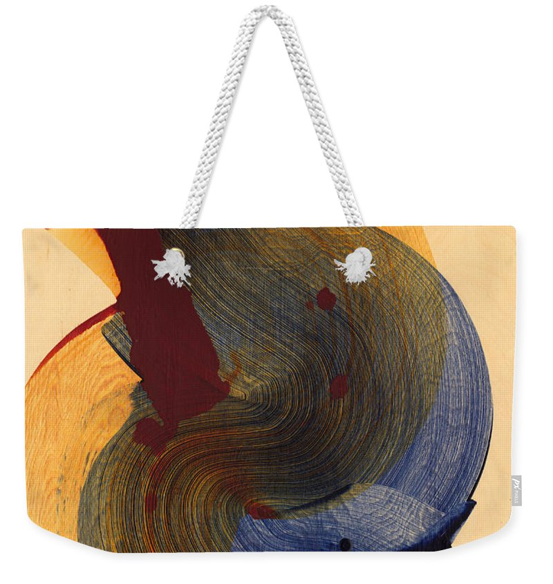 Abstract Weekender Tote Bag featuring the painting Socal 03 by Claire Desjardins